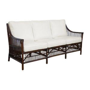 Bora Bora Canvas Coal Sofa with Cushion