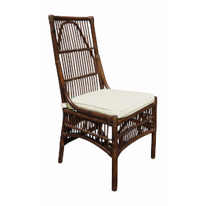 Bora Bora Canvas Lido Indigo Indoor Dining Chair with Cushion