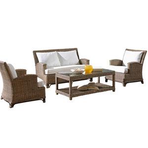 Exuma Patriot Ivy Four-Piece Living Set with Cushion