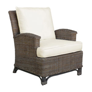 Exuma Canvas Black Lounge Chair with Cushion