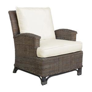 Exuma Canvas Lido Indigo Lounge Chair with Cushion