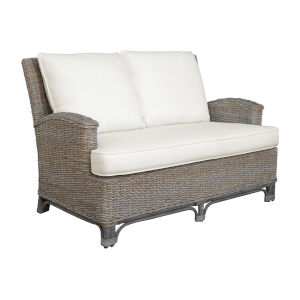 Exuma York Jute Loveseat with Cushion