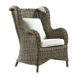 Exuma Canvas Black Occasional Chair with Cushion