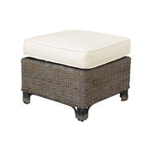 Exuma York Jute Ottoman with Cushion