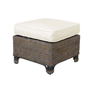 Exuma Rave Spearmint Ottoman with Cushion