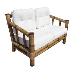 Kauai Bamboo Kalani Oyster Loveseat with Cushion