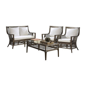 Millbrook Patriot Cherry Four-Piece Living Set with Cushion