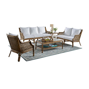 Old Havana Patriot Ivy Five-Piece Living Set with Cushion
