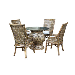 Old Havana Patriot Birch Six-Piece Dining Set with Cushion