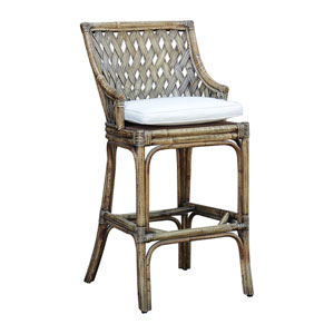 Old Havana York Jute Barstool with Cushion