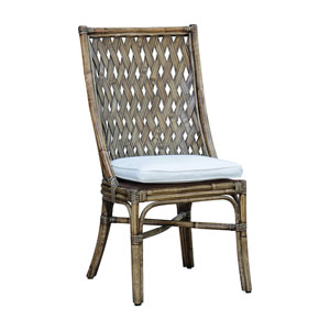 Old Havana York Peacock Side Chair with Cushion