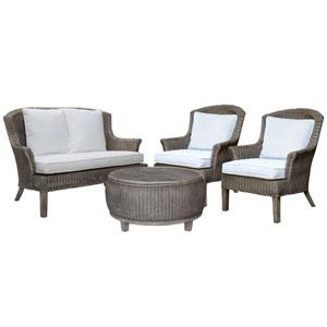 Playa Largo York Jute Four-Piece Living Set with Cushion