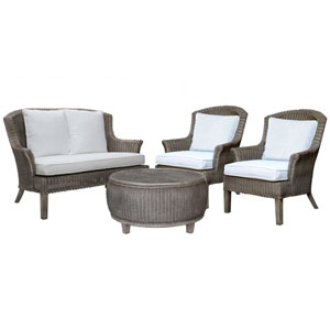 Playa Largo Patriot Cherry Four-Piece Living Set with Cushion