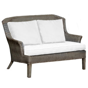 Playa Largo York Peacock Loveseat with Cushion