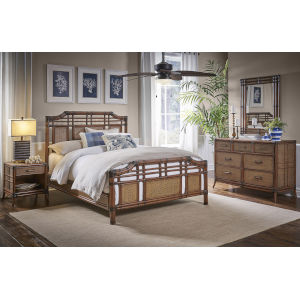 Palm Cove Queen Antique Six-Piece Queen Bedroom Set