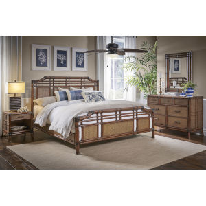 Palm Cove King Antique Six-Piece 64-Inch King Bedroom Set