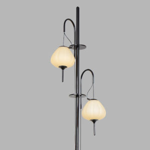 Lecce Black LED Floor Lamp Title 24