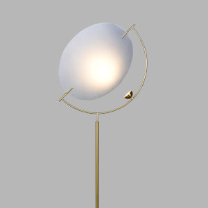 Como Antique Brass LED Floor Lamp Title 24