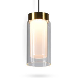 Genoa Black Adjustable LED Pendant