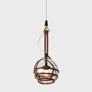 Bari Antique Brass LED Mini Pendant Title 24