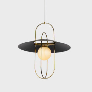 Lyra Antique Brass LED Pendant Title 24