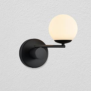 Capri Black Nine-Inch LED Wall Sconce