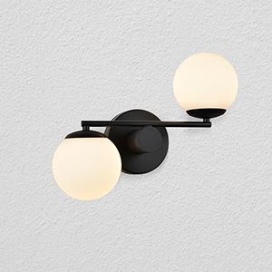 Capri Black Two-Light LED Wall Sconce