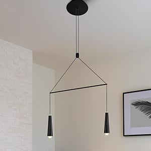 Expression Black Two-Light LED Pendant