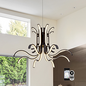 Capella Black 31-Inch LED Chandelier
