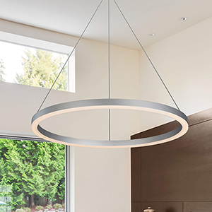 Tania Silver 24-Inch LED Adjustable Chandelier