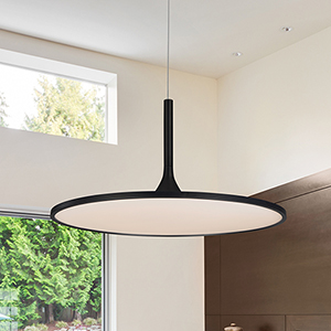 Salm Black 24-Inch LED Adjustable Chandelier