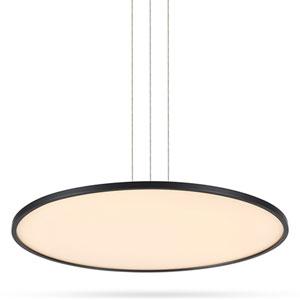 Salm Black Adjustable LED Chandelier