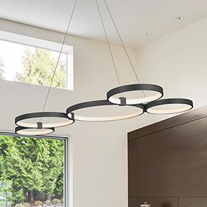 Capella Black 31-Inch LED Adjustable Chandelier