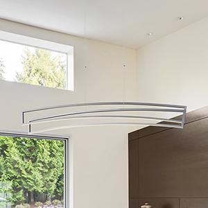 Sirius Silver LED Linear Pendant