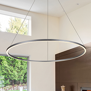 Tania Silver 51-Inch LED Adjustable Chandelier