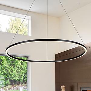 Tania Black 51-Inch LED Adjustable Chandelier