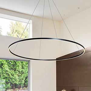 Tania Black LED Adjustable Chandelier