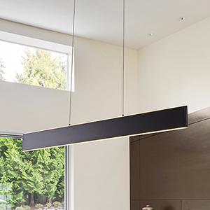 Wezen Black LED Linear Pendant