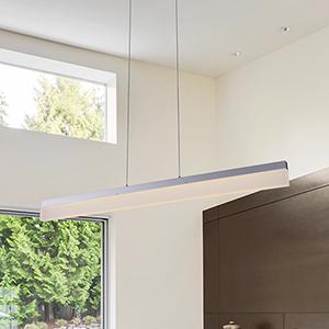 Procyon Silver LED Linear Pendant