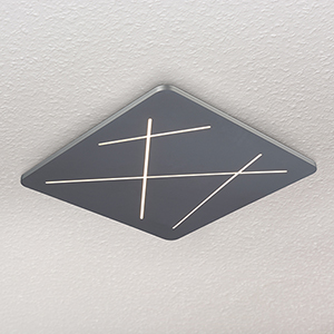 Tureis Silver 17-Inch LED Flush Mount