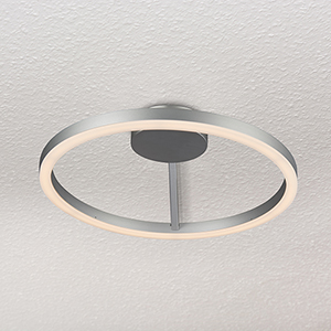 Zuben Silver LED Semi Flush Mount
