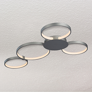 Capella Silver 29-Inch LED Semi Flush Mount