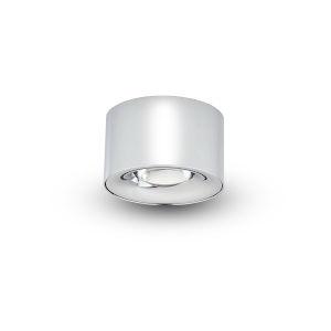 Node Polished Chrome 8W Round LED Flush Mounted Downlight