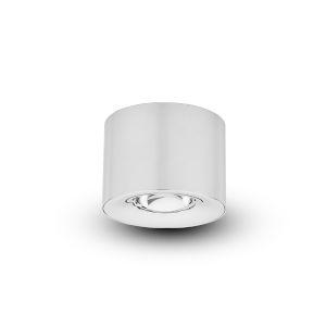 Node Polished Chrome 12W LED Flush Mounted Downlight