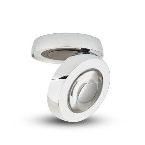 Node Polished Chrome LED Flush Mounted Downlight