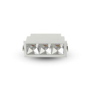 Rubik White Three-Light LED Recessed Downlight