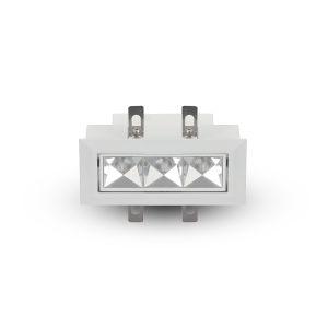 Rubik White Three-Light Adjustable LED Recessed Downlight