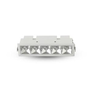 Rubik White Five-Light LED Recessed Downlight