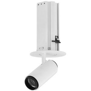 Telescopica White Six-Inch Adjustable LED Recessed Spotlight