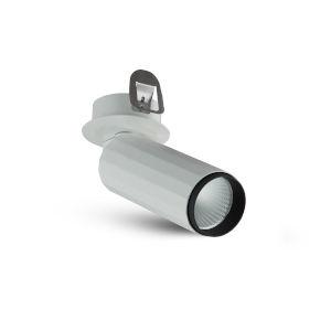 Orbit White Seven-Inch Adjustable LED Flush Mounted Spotlight